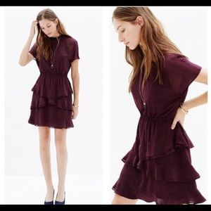 Madewell Radiant dress in plum